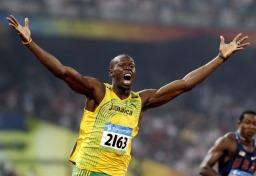 Рекордсмен мира на 100 м, Усэйн Болт фото